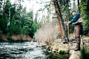 Man Fishing in Bend